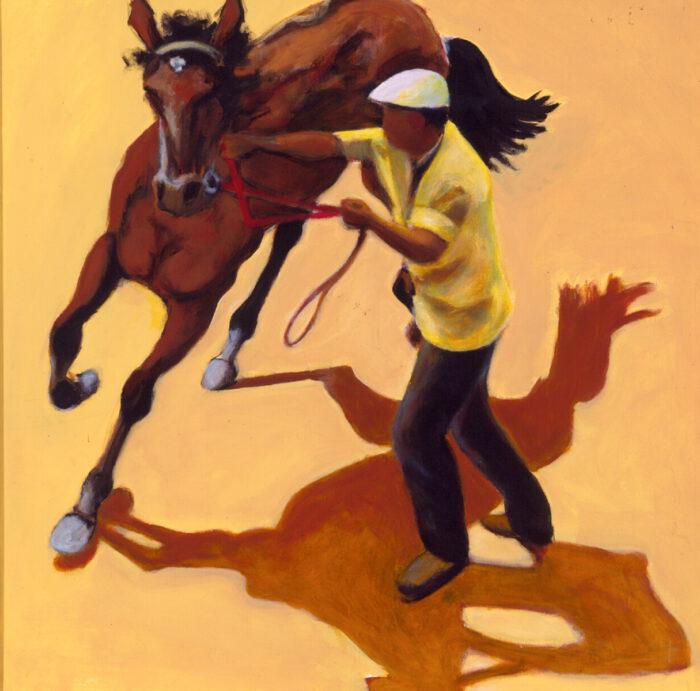 1998 01 31 Cavallo 8 Acryl auf Leinwand 120x120 cm