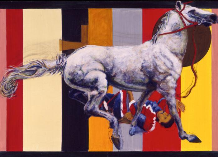 1998 01 32 Cavallo 84 Acryl auf Leinwand 165x230 cm
