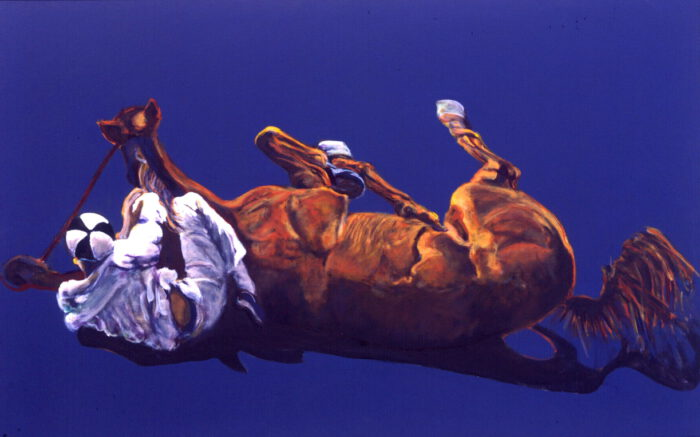 1998 01 34 Caduto 8 Acryl auf Leinwand 120x190 cm