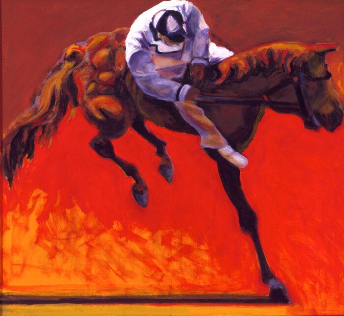 1998 01 35 Cavallo 2 Acryl auf Leinwand 100x110 cm