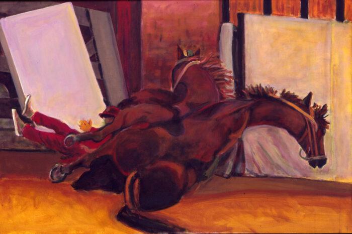 1998 01 36 Caduti 6 Acryl auf Leinwand 100x150 cm