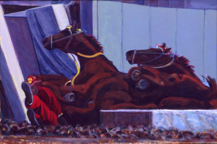 1998 01 37 Caduti 5 Acryl auf Leinwand 100x150 cm