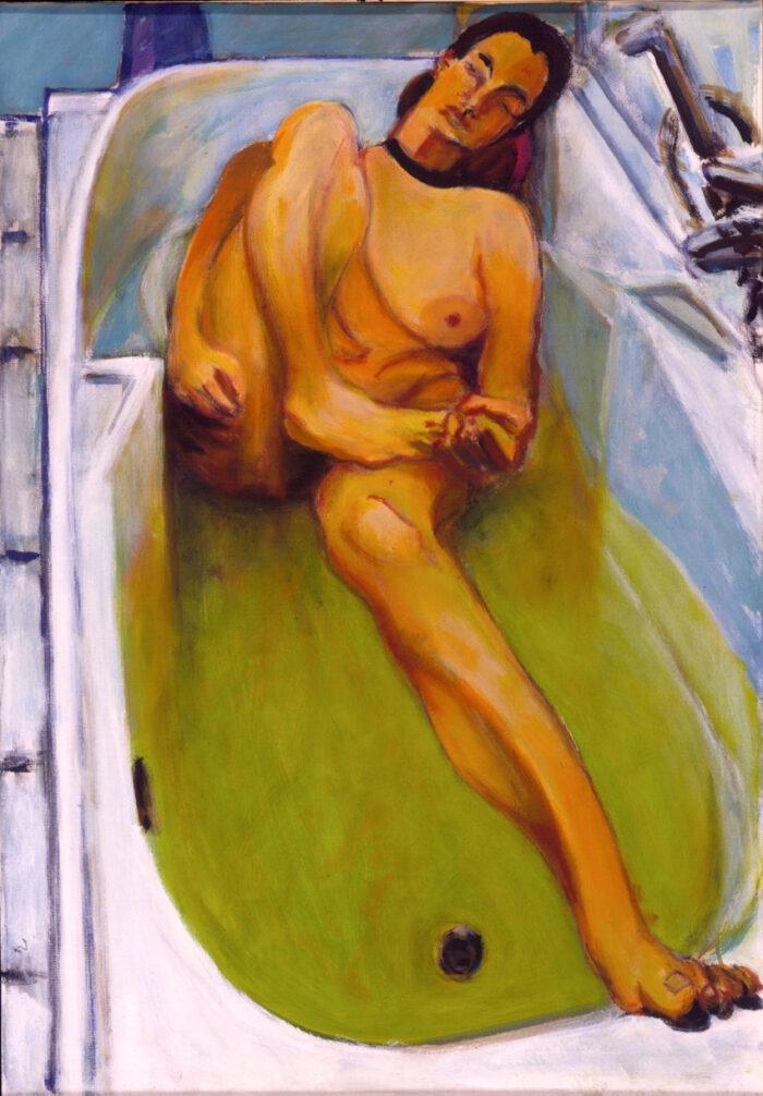 1998 03 01 Badewanne IV Acryl auf Leinwand 100x70 cm