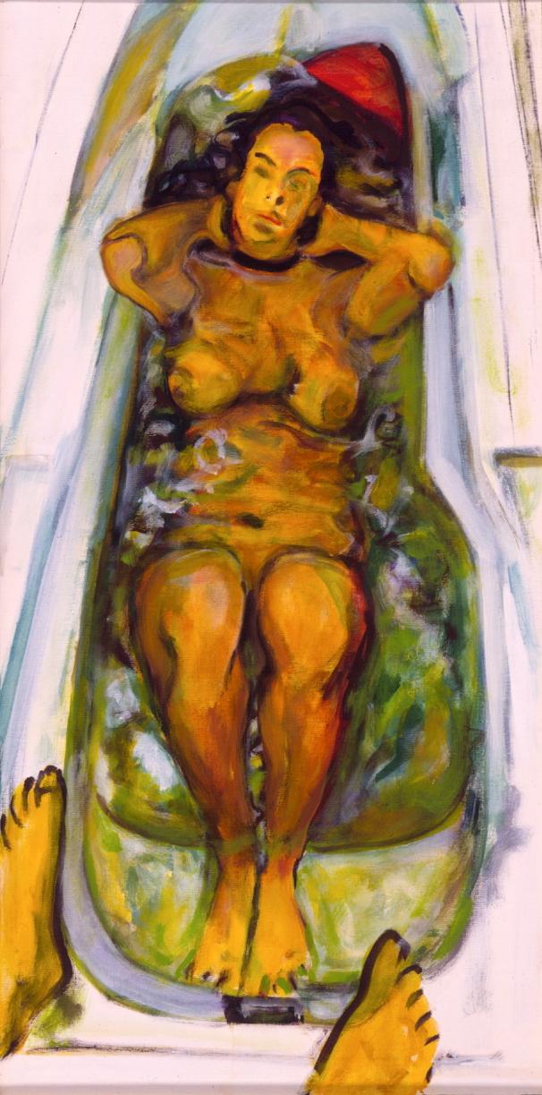 1998 03 02 Badewanne II Acryl auf Leinwand 120x60 cm