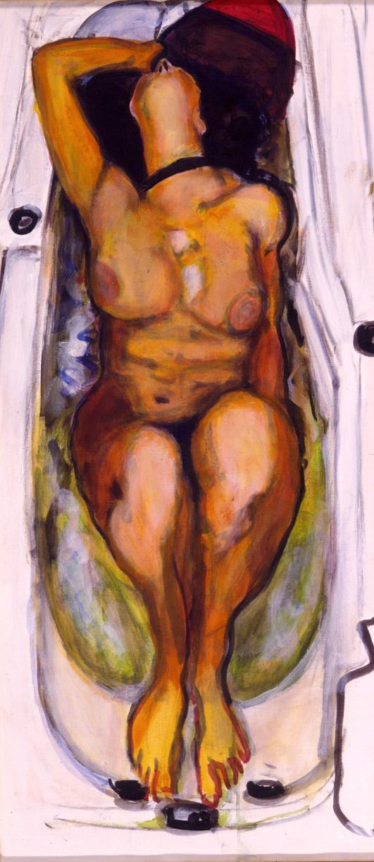 1998 03 04 Badewanne III Acryl auf Leinwand 110x50 cm