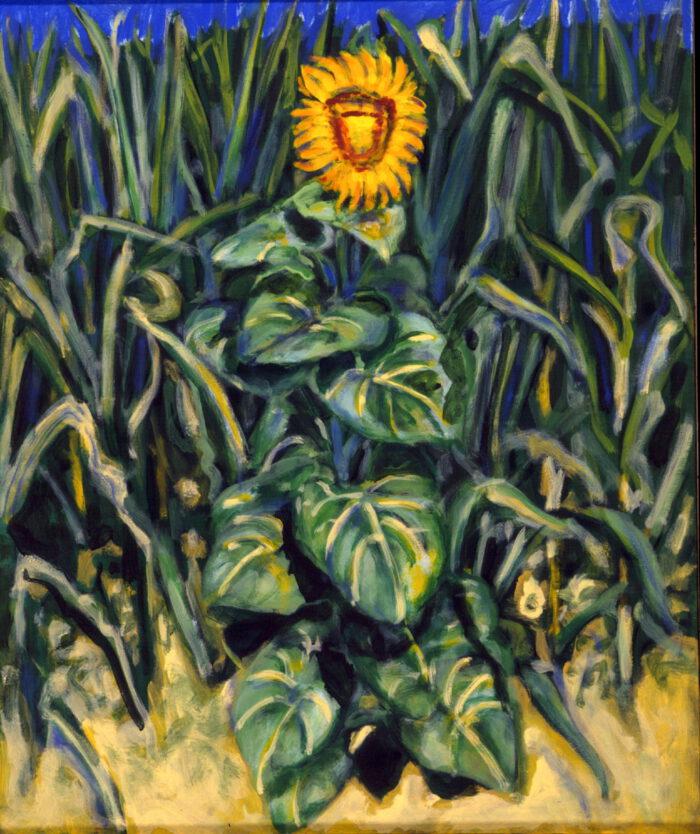 1998 05 01 Sonnenblume Acryl auf Leinwand 119x100 cm