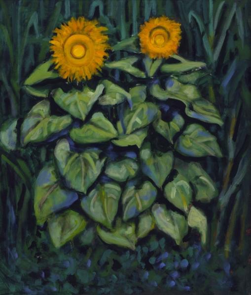 1998 05 02 Sonnenblumen Acryl auf Leinwand 119x100 cm