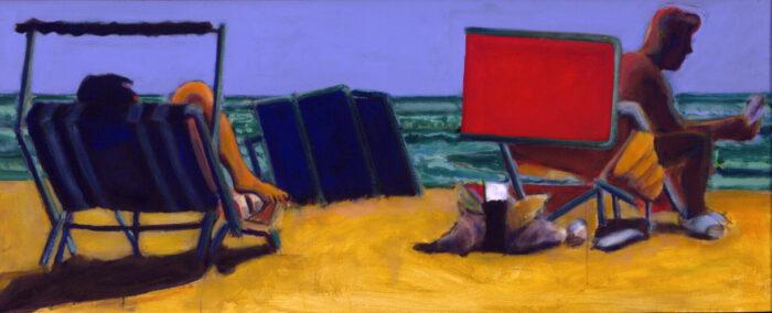 1998 06 01 Strandbild I Acryl auf Leinwand 65x160 cm