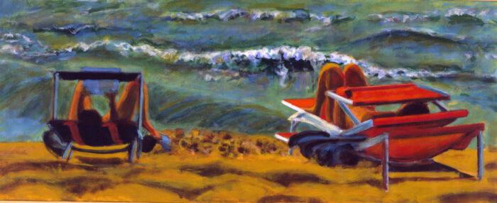 1998 06 02 Strandbild II Acryl auf Leinwand 60x170 cm