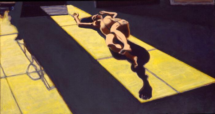 1998 09 01 o.T. Acryl auf Leinwand 70x130 cm
