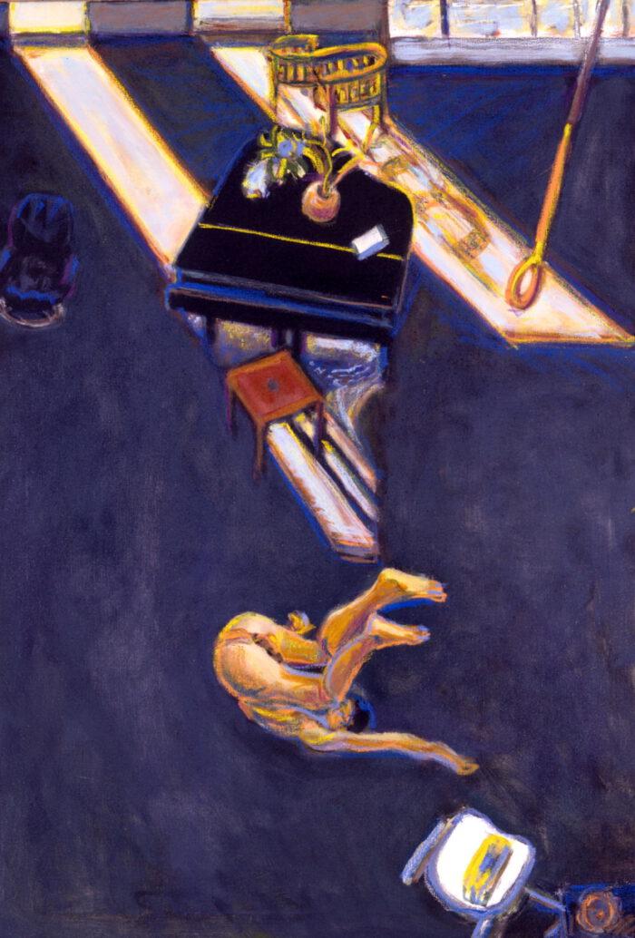 1998 09 04 Überschlag selbst Acryl auf Leinwand 100x70 cm