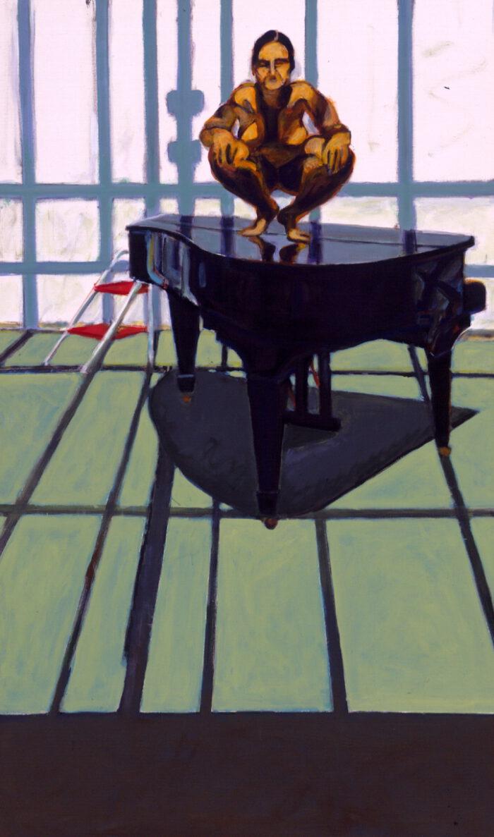 1998 09 05 Akt auf Flügel I Acryl auf Leinwand 200x120 cm