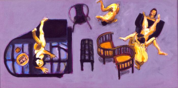 1998 10 01 Tadeuszene Acryl auf Leinwand 60x120 cm