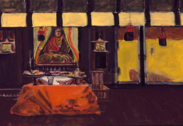 1998 12 01 Buddha Acryl auf Leinwand 70x100 cm