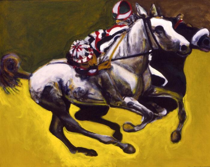 1999 01 08 Cavalli 5 Acryl auf Leinwand 80x100 cm