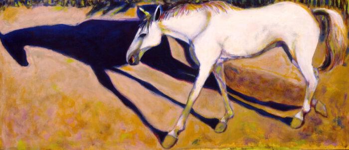 1999 01 09 Cavallo 6 Acryl auf Leinwand 60x136 cm