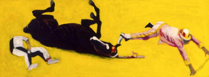 1999 01 10 Caduto 3 Acryl auf Leinwand 82x215 cm