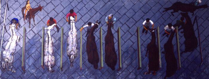 1999 01 12 Cavalli 9 Acryl auf Leinwand 270x676 cm