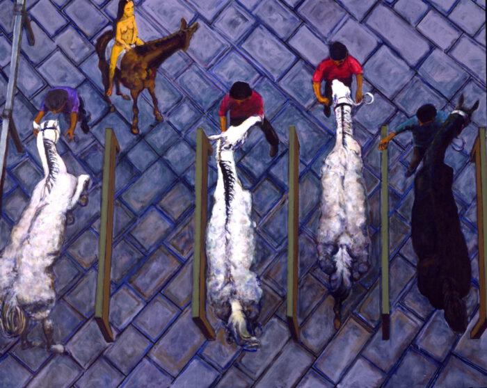 1999 01 13 Cavalli 10 Acryl auf Leinwand 271x331 cm