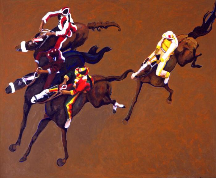 1999 01 14 Cavalli 7 Acryl auf Leinwand 246x300 cm