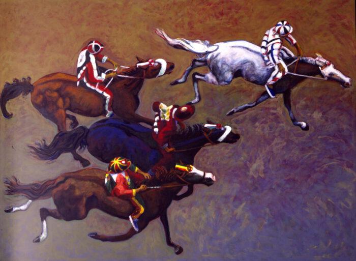 1999 01 15 Cavalli 8 Acryl auf Leinwand 300x398 cm