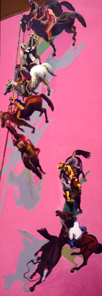 1999 01 16 Cavalli 4 Acryl auf Leinwand 410x145 cm