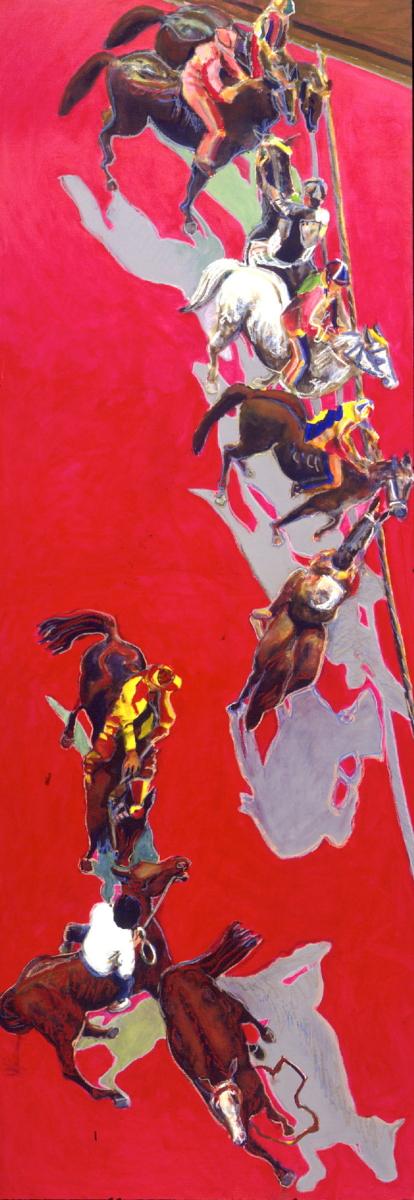 1999 01 17 Cavalli 20 Acryl auf Leinwand 410x145 cm