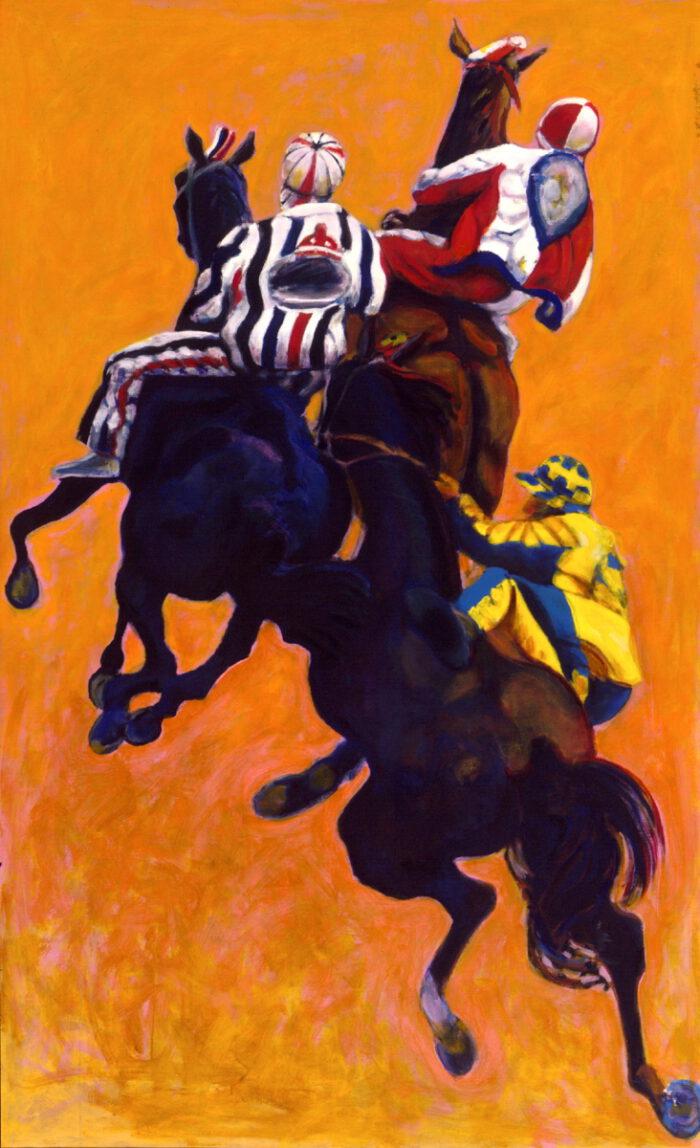 1999 01 22 Cavalli 6 Acryl auf Leinwand 210x130 cm