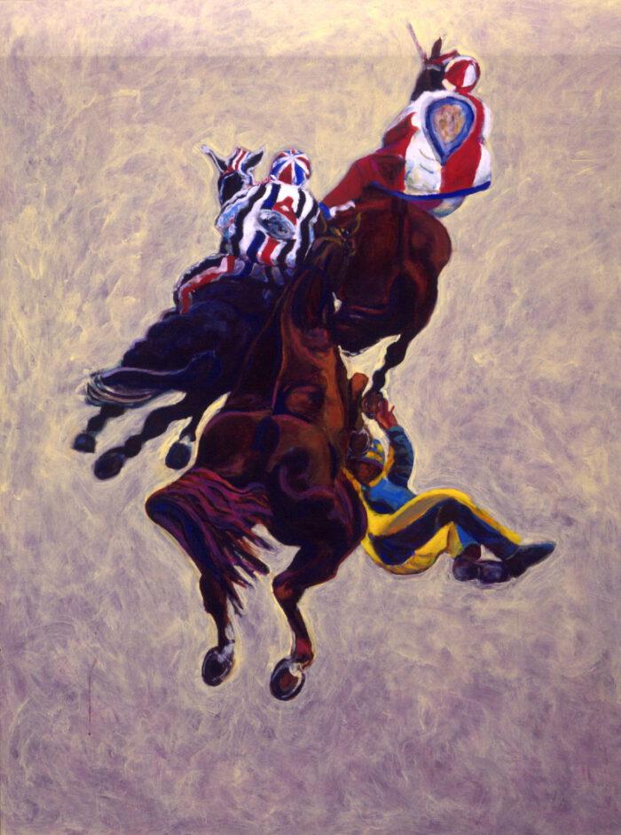 1999 01 24 Cavalli 3 Acryl auf Leinwand 210x160 cm