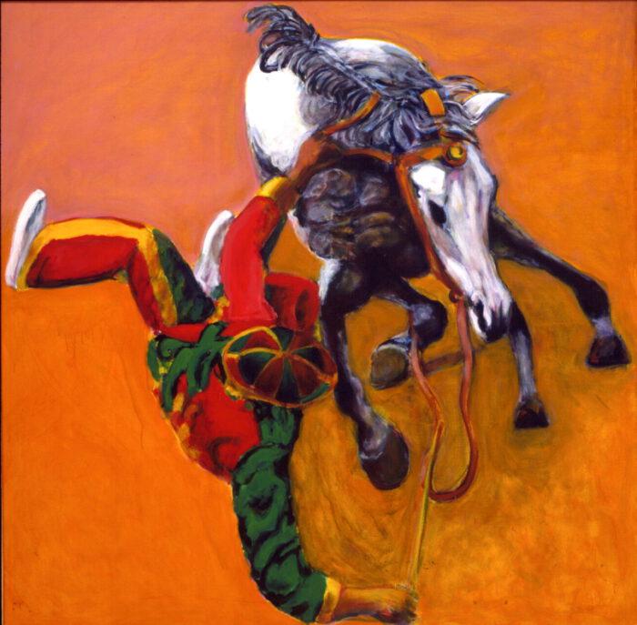 1999 01 28 Caduto 1 Acryl auf Leinwand 150x150 cm