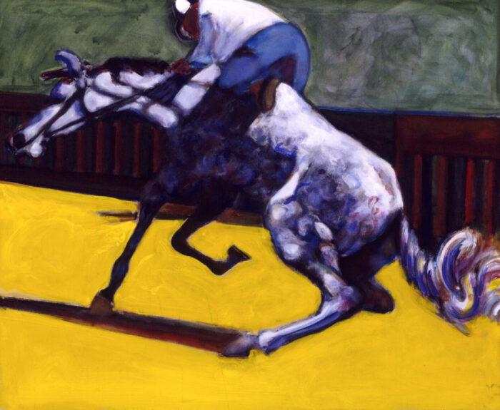 1999 01 31 Sultan mit Reiter Acryl auf Baumwolle 100x120 cm