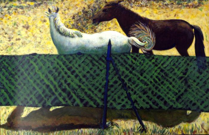 1999 01 33 Cavalli 13 Acryl auf Leinwand 180x268 cm