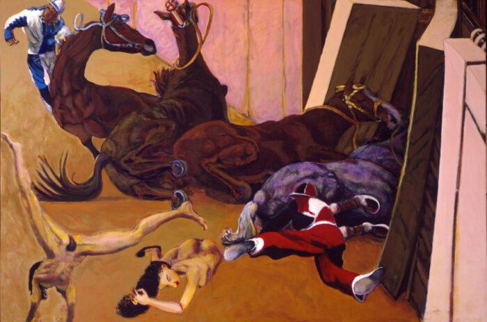 1999 01 34 Caduti 7 Acryl auf Leinwand 210x308 cm