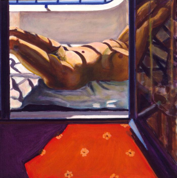 1999 02 01 o.T. Side 5 Acryl auf Leinwand 100x100 cm