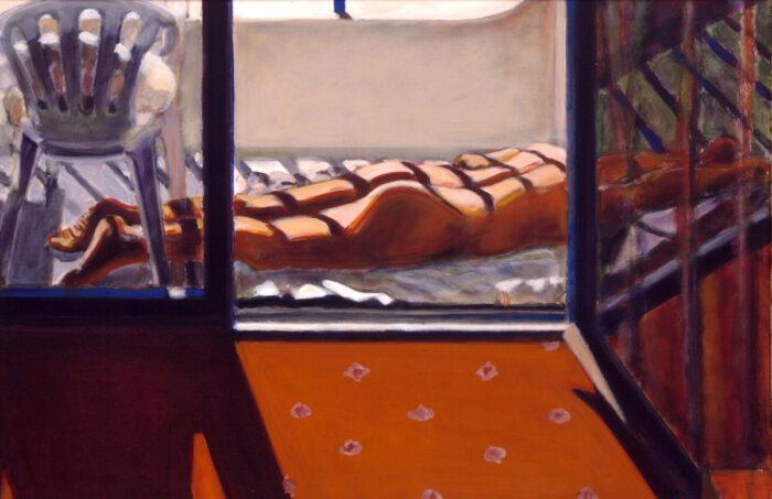 1999 02 02 O.T. Side 7 Acryl auf Leinwand 80x120 cm