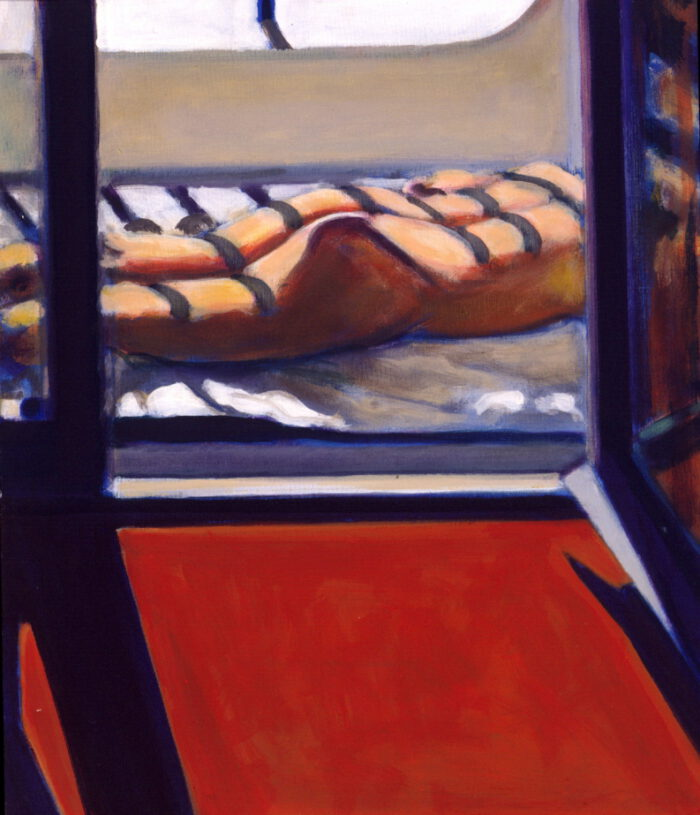 1999 02 03 o.T. Side 6 Acryl auf Leinwand 70x60 cm