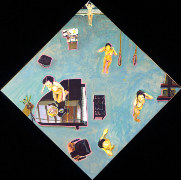 1999 06 03 o.T. Acryl auf Leinwand 205x205 cm Raute