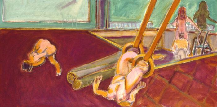 1999 06 05 o.T. Acryl auf Leinwand 60x120 cm
