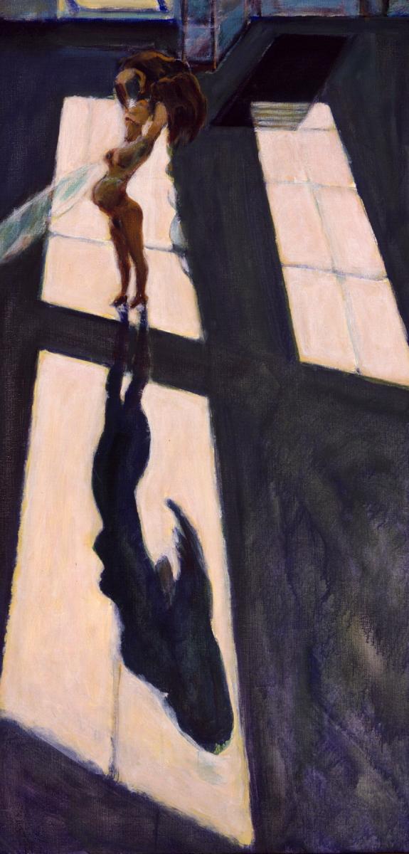 1999 08 04 o.T. Acryl auf Leinwand 130x64 cm