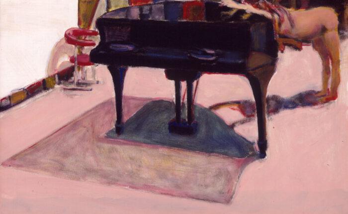 1999 09 01 Akt Flügel Acryl auf Leinwand 50x80 cm