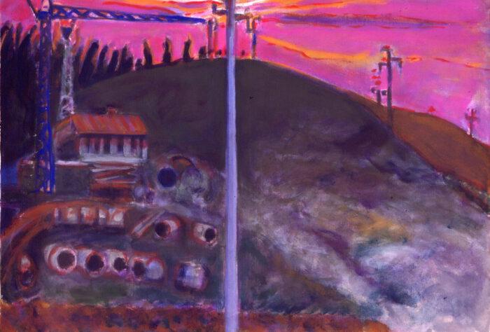 1999 12 01 o.T. Testa Acryl auf Leinwand 70x100 cm