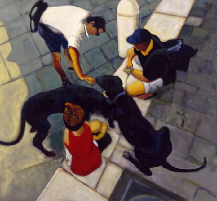 1999 13 01 o.T. Acryl auf Leinwand 150x160 cm